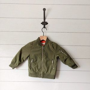 H&M 2YR Padded Green Bomber Jacket